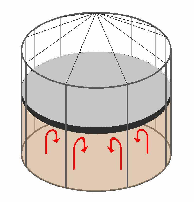 схема расположения понтона в